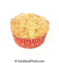Low calorie muffin isolated on a white background