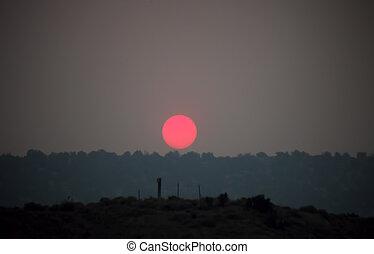 Smokey Haze Sunset