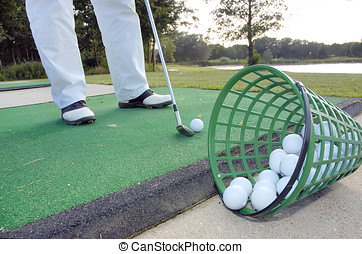 playing golf - Learning to play golf