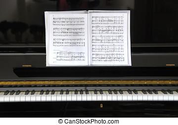 negro, piano