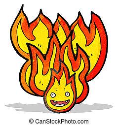 fire cartoon character