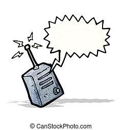 cartoon walkie talkie