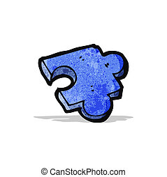 cartoon puzzle piece