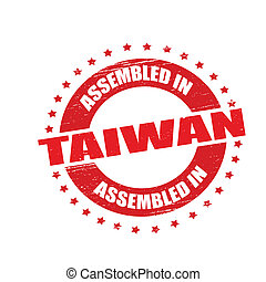 Assembled in Taiwan - Stamp with text assembled in Taiwan...
