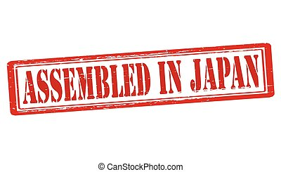 Assembled in Japan - Stamp with text assembled in Japan...