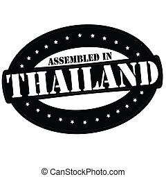 Assembled in Thailand - Stamp with text assembled in...