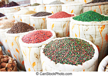spices at east street market - spices herbs and pepper in...