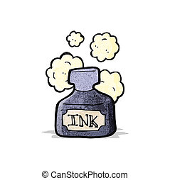 cartoon ink pot
