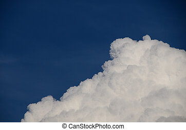 fluffy cloud - fluffy white cloud on blue sky
