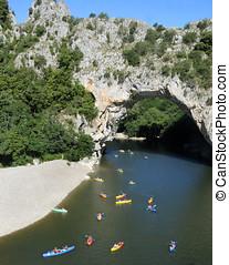 Ardeche, Natural Bridge - Famous place in Ardeche, France....
