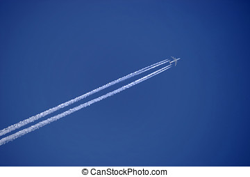vapor trail from an airplane