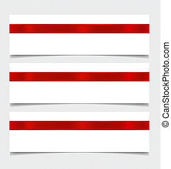 Card note with ribbons. Vector illustration.