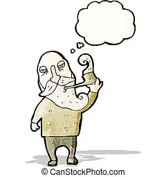 old man smoking pipe cartoon