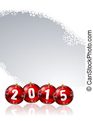 2015 new years illustration with christmas balls and...