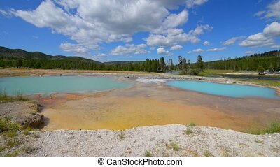 Black Opal Pool in Biscuit Basin, Yellowstone