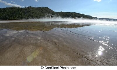 Grand Prismatic Yellowstone - Grand Prismatic Spring wide...