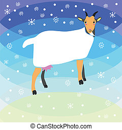 Christmas goat background vector graphic illustration design