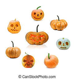 pumpkin - set of halloween pumpkin isolated