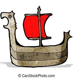 viking ship cartoon