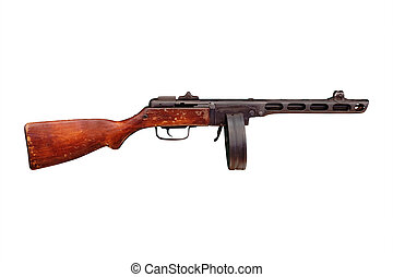 carbine under the white background