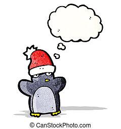 cartoon funny christmas penguin