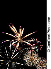 Beautiful Fireworks - Beautiful fireworks exploding over a...