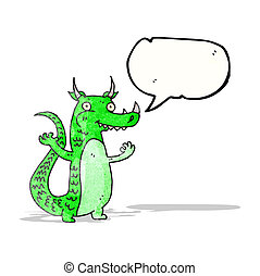 cartoon green dragon