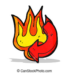 flaming arrow cartoon