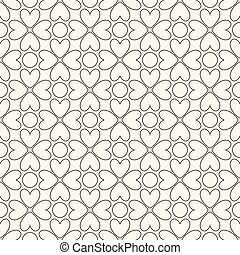 Floral vector seamless pattern Black and white colors -...