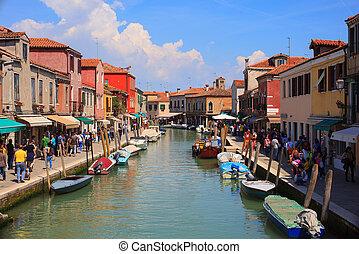 Murano island - View of Murano, island of Venice lagoon,...