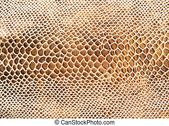 Leather texture - Golden snack skin textured leather
