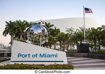 Port of Miami, Florida, USA