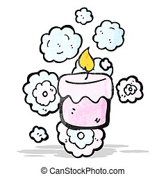 scented candle cartoon