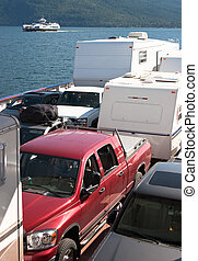 vehículos, transbordador