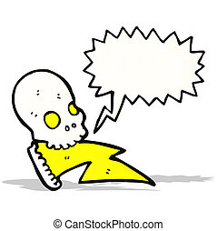 cartoon crazy skull