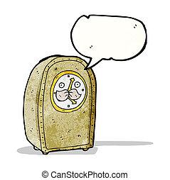 antique clock cartoon character