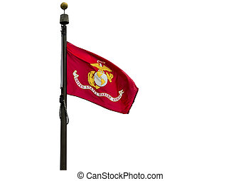 US Marine Corps flag on a white background