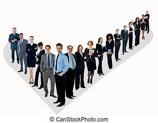 The perfect group of business people - Confident business...