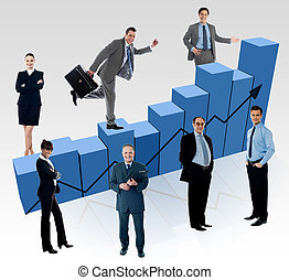 The market is variable, invest wisely! - Business people,...