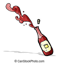red wine cartoon