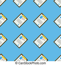 Vector background for office. Clipboard