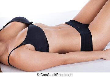 Beauty female body in underwear