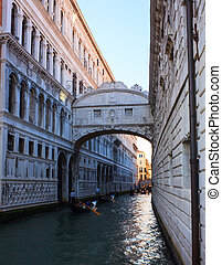 Bridge of Sighs, Venice - VENICE, ITALY - APRIL, 26: View of...