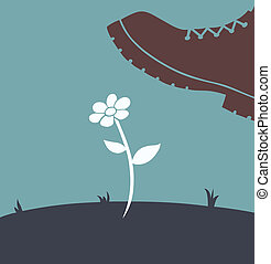 foot over flower