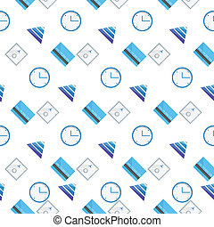Vector background for e-business - Seamless vector pattern...