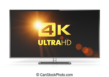 4K UltraHD TV - Creative abstract ultra high definition...