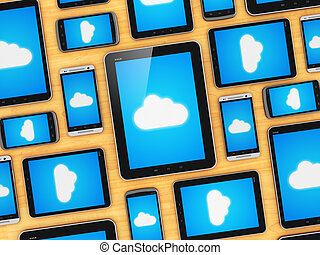Cloud computing on mobile devices concept