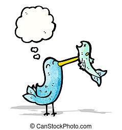 cartoon kingfisher