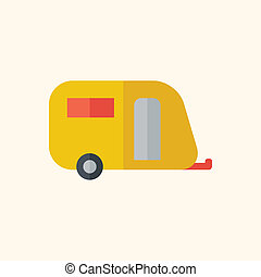 Travel Flat Icon with Shadow Vector Pictogram
