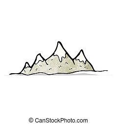 cartoon mountain range
